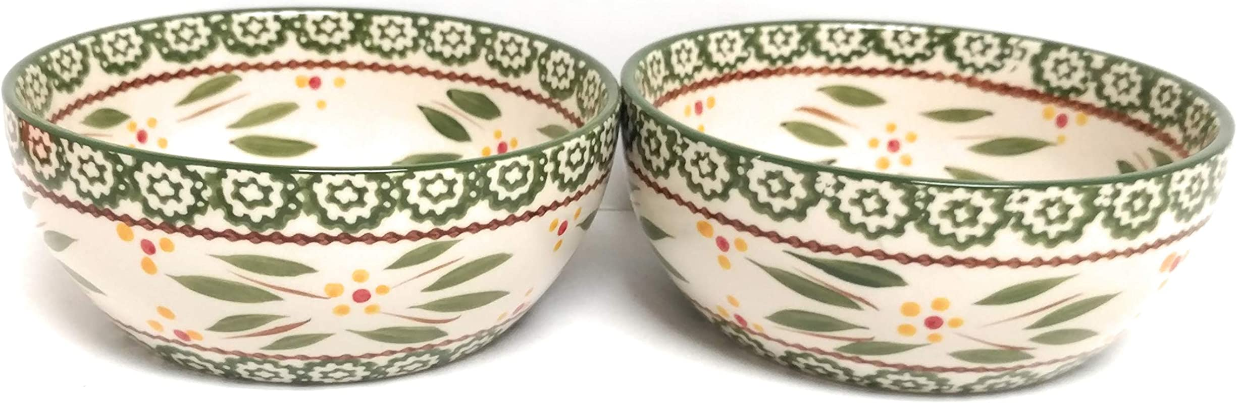 Temp Tations Set Of 2 Bowls Salad Soup Cereal Bowl 24 Ounces Each Old World Green