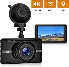 TOGUARD 4K UHD Dash Cam Built-in GPS WiFi Dashboard Camera Recorder 3'' LCD 170° Wide Angle Car Dash Camera with Night Vision, 24Hs Parking Mode, G-Sensor, Time Lapse