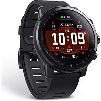Amazfit Stratos A1619 Multisport Smartwatch (Black)