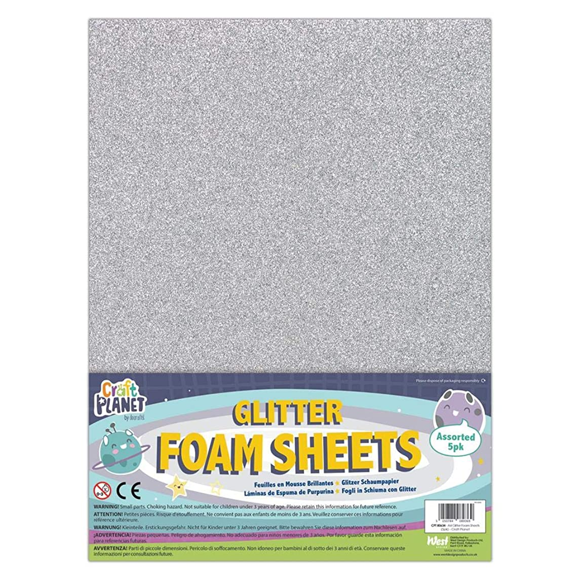 Craft Planet Foam Sheets, Multi-Colour, One Size