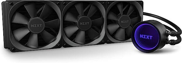 NZXT Kraken X73 360mm - RL-KRX73-01 - AIO RGB CPU Liquid Cooler - Rotating Infinity Mirror Design - Improved Pump - Powere...