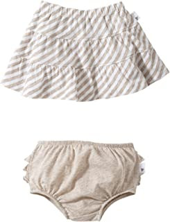 Burt's Bees Baby Little Girls' Striped Reversible Skirt (Toddler/Kid) - Sand - 3T