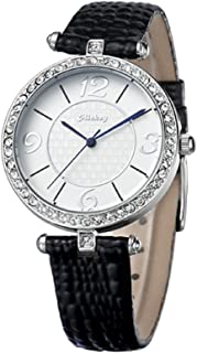 Mickey Mouse Elegant Silver - Black Womens Watch