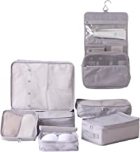 Travel Packing Cubes 5/7 Set with Toiletry Bag, JJ POWER Luggage Organizers Shoe Bag