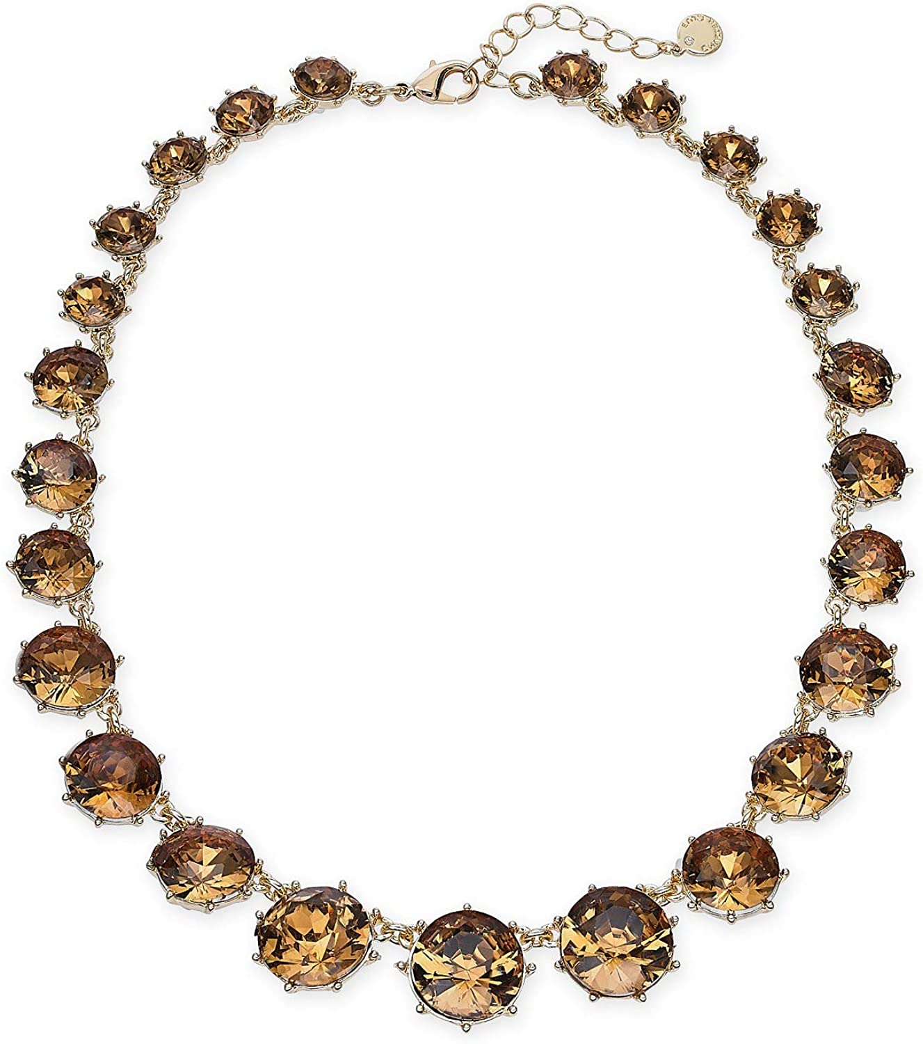 Charter Club Gold-Tone Stone Collar Necklace, 17