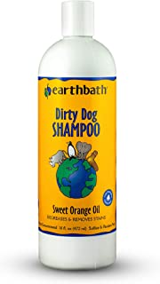 Earthbath Dirty Dog Shampoo, Sweet Orange Oil, 16oz – Degreases & Removes Stains – Made in USA