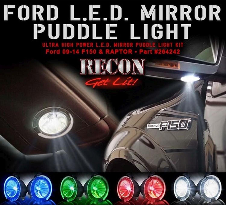 Ford 09-14 F150 RAPTOR Ultra High Li Popular brand Puddle Mirror Latest item LED Power