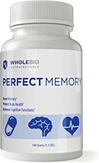 Best Brain & Memory Vitamin - US Patent Protected. Enhance Memory, Boost Brain Health. 120 Capsules per Bottle. 12 Ingredients (The Most of Any Memory Formula) - Perfect Memory