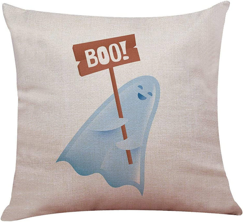Fashion Cushion Covers Halloween Pillowcase Funny Cute Ghost Cushion Cover Cartoon Pillow Box Home Decoration (C) -Pillowcase Decorative (color   D)