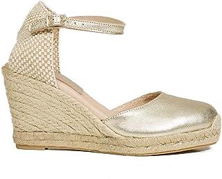 a1eb06e9 Zapatos miMaO. Zapatos Piel Mujer Hechos EN ESPAÑA. Cuñas Esparto Mujer.  Sandalias Plataforma