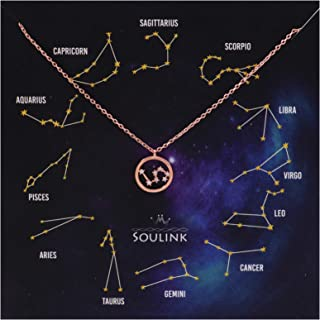 Soulink Universe Astrology Constellation Tropical Zodiac Sign in Circle Necklace