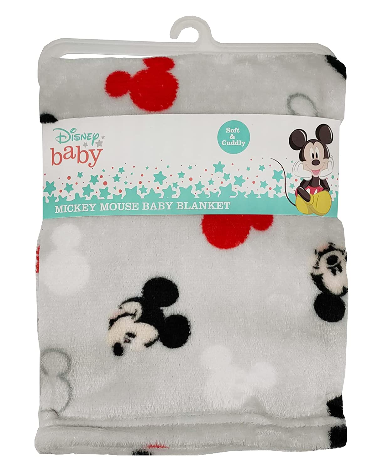 Disney Cudlie Baby Boy Mickey Mouse 1-Ply Flannel Fleece with Tossed Face Print