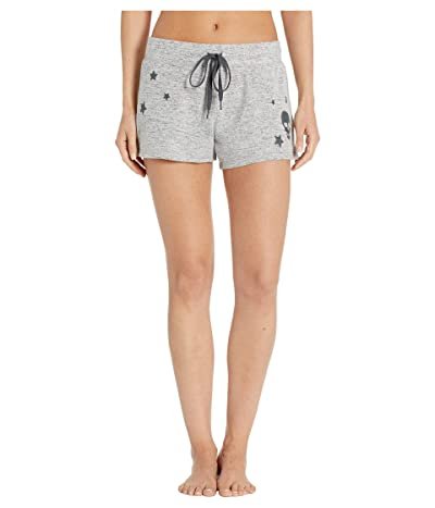 P.J. Salvage Stars and Skulls Shorts (Heather Grey) Women