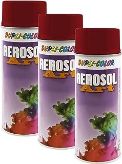 3X DUPLI Color AEROSOL RAL Lack SPRÜHDOSE 3001 SIGNALROT GLÄNZEND