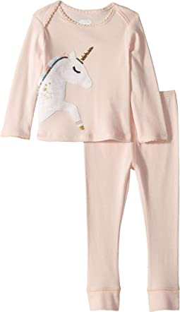 Unicorn Long Sleeve Two-Piece Playwear Set (Infant)