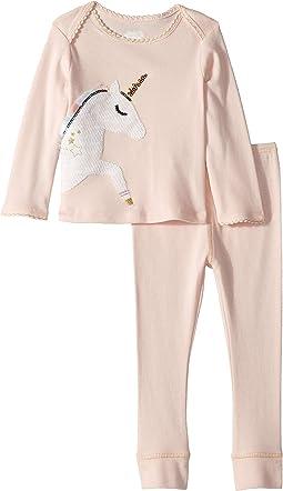Unicorn Long Sleeve Two-Piece Playwear Set (Infant)