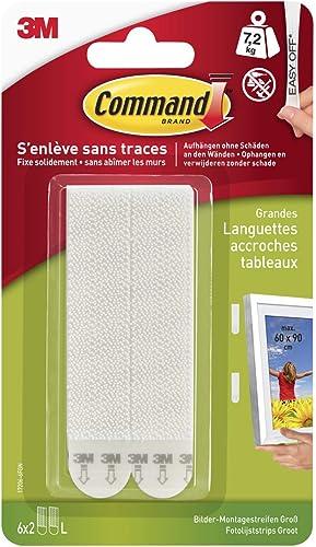Multi-Pack de 6 Languettes Accroche Tableaux Grand Modèle Command, 17206-6