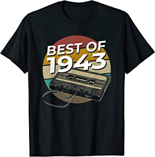 76 Years Old, Made In 1943, Vintage 76th Birthday Men Women T-Shirt