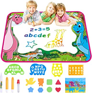 YAHO Kids Toys Magic Color Mat - Drawing Mat Painting Writing Board Doodle Educationa Toy Age for 2 3 4 5 6 7 8 9 10 11 12 Year Old Girls Boys Age Toddler Gift (Pink)