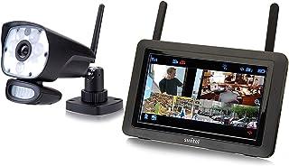 Switel HSIP6000, HD - videobewakingssysteem met LED-licht, draadloos, weerbestendig, nachtzichtfunctie, intercomfunctie me...