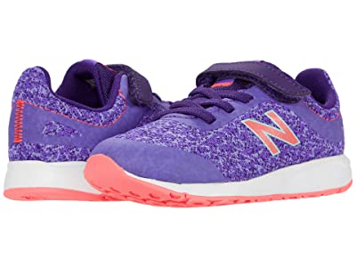 New Balance Kids 455v2 (Infant/Toddler) (Mirage Violet/Guava) Girls Shoes