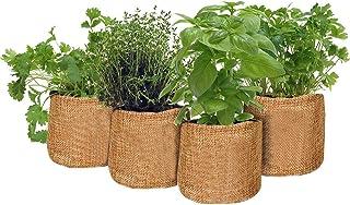 ガーデンスターターキット、シードスターターピートポットキット、グローイングキットグローイングスターターセットには、屋内でハーブを栽培するための手作りの丈夫なDIYグローセットが含まれています