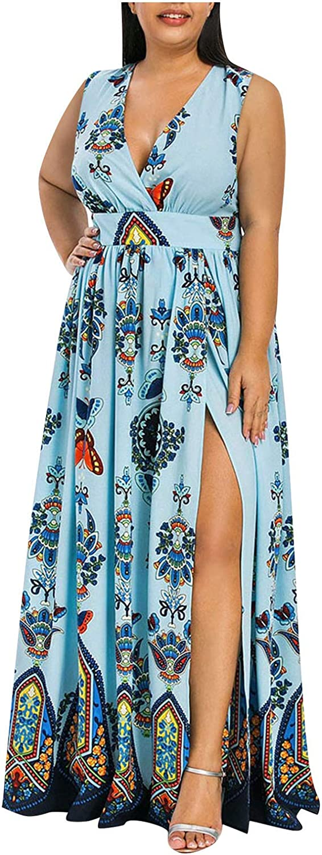 TOPGOD Womens Outlet SALE Dresses Plus Size Casual Long Over item handling ☆ Shoulder Sleeve Cold