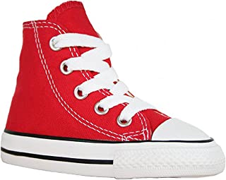 Converse Infant Chuck Taylor All Star 7J232 Hi Red Infant Size 10