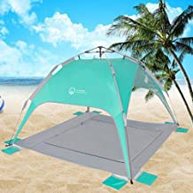 OC Beach Tent, Instant Beach Tent,2019 Beach Shade with UV 50+ Protection,Good Ventilation Sports Sun Shade for 2-3 Person Family Outdoor Beach Camping,Easy Set-up and Take Down