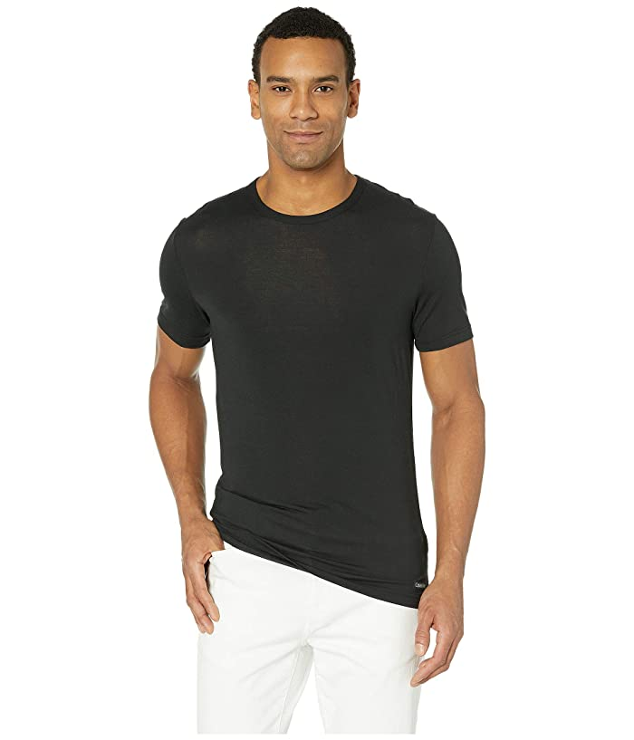 Calvin Klein Underwear  Ultra Soft Modal Short Sleeve Crew Neck T-Shirt (Black) Mens T Shirt