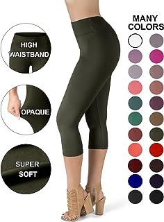 d29ae23cddc SATINA High Waisted Super Soft Capri Leggings - 20 Colors - Reg   Plus Size