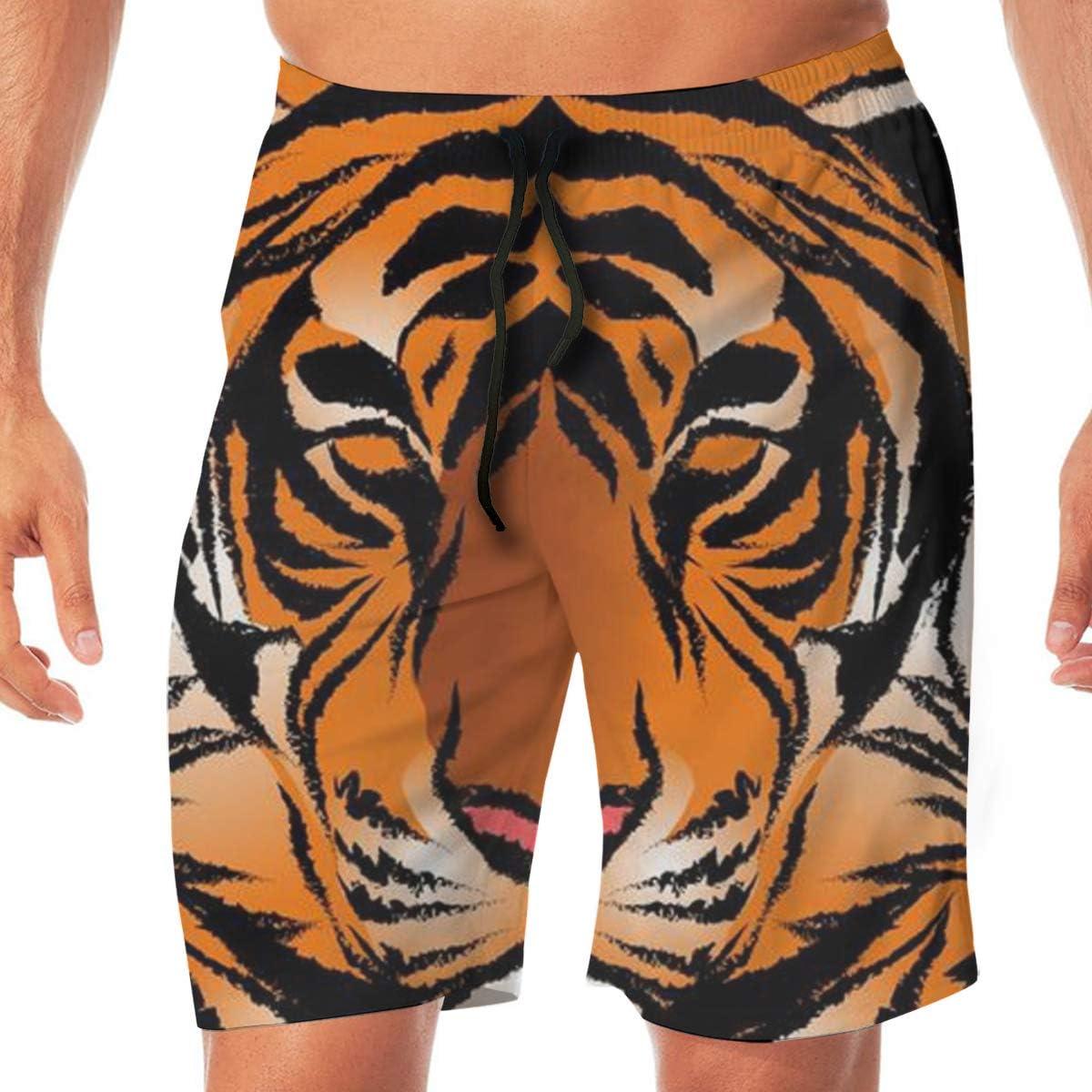 NiYoung Men Big & Tall Swim Trunks Half Pants Essentials Sportwear with Pockets