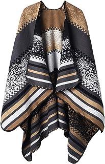 VBIGER Sciarpa Donna Poncho Capes Elegant Scialle Cardigan Maglione Cappotto