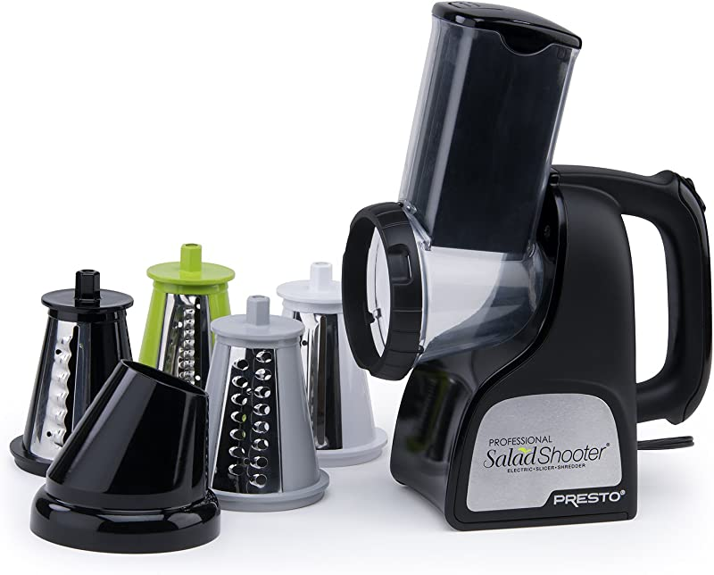 Presto 02970 Professional SaladShooter Electric Slicer Shredder Black