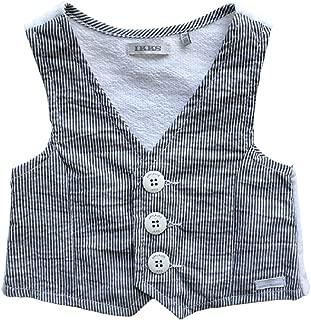 IKKS Baby Boys Striped Vest Grey (18M)