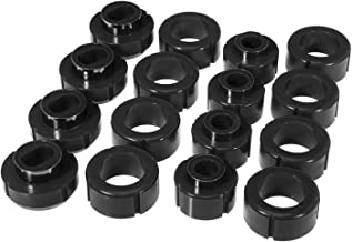 Prothane 7-116-BL Black Body and Extended Cab Pickup Mount Bushing Kit - 16 Piece