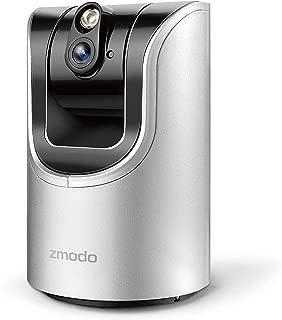 Zmodo 1.0 Megapixel 1280 x 720 Pan & Tilt Smart Wireless IP Network Security Camera Easy Remote Access Two-way Audio (Renewed)