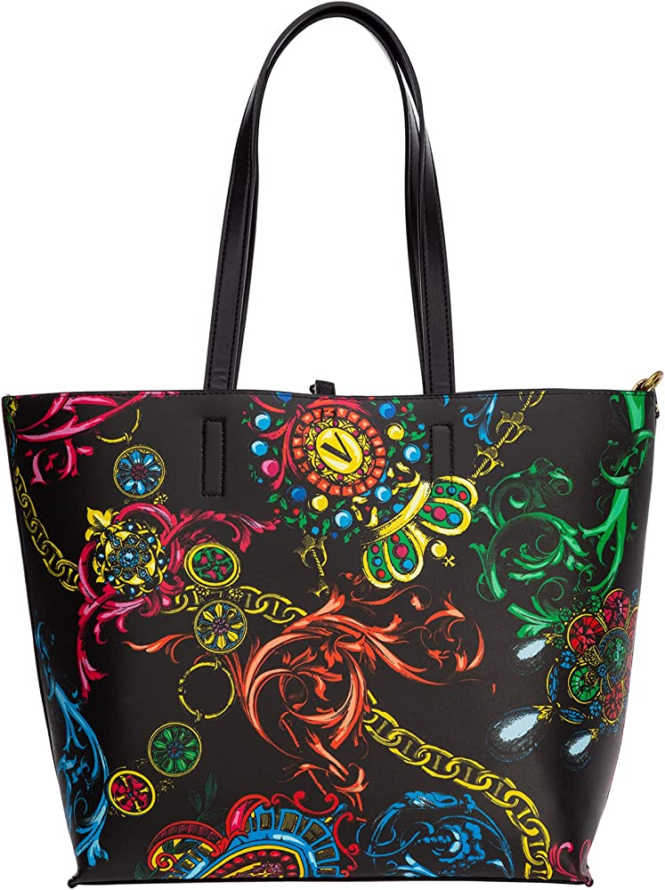 Versace jeans couture shopping bag bora a spalla da donna in pelle sintetica E71VA4BZ1-E71588_E899