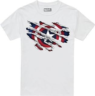 Marvel 男童美国队长撕裂 T 恤