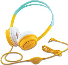 iBall Kids Diva Kids Safe Wired Headphone with in line Volume Controller Yellow and Light Blue