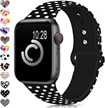 Compatible for Apple Watch Band 38mm 42mm 40mm 44mm,Silicone Fadeless Pattern Printed..