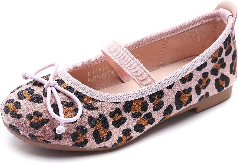 Aiminila Girls Classic Ranking TOP10 Leopard Print Ballet Shoes School Flat Mary Jane