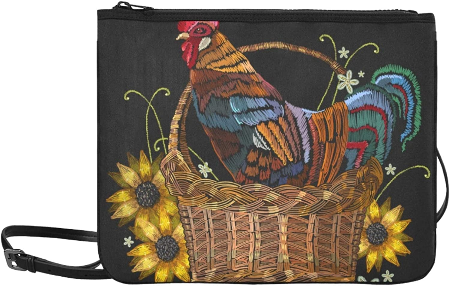 Party Handbags Cock Embroidery Rooster Shoul Chickens Rapid rise New sales Adjustable