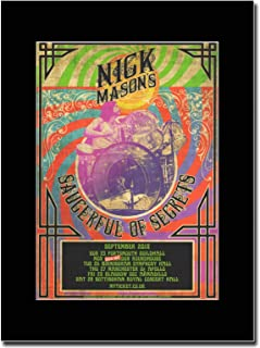 gasolinerainbows - Pink Floyd - Nick Masons Saucerful of Secrets - Matted Mounted Magazine Promotional Artwork on a Black Mount