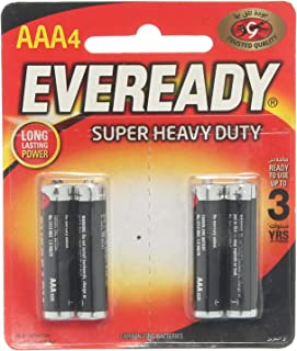 Eveready Super Heavy Duty AAA Batteries Pack Of 4