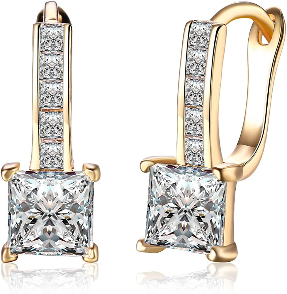 Max Selling and selling 76% OFF Elegant 18K Gold Plated Cubic Earrings Earring Hoop Zirconia For