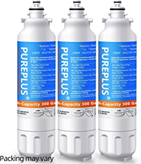 PUREPLUS 9490 Refrigerator Water Filter Replacement for LG LT800P, Kenmore Elite 469490, ADQ73613401, ADQ73613402, ADQ736134, LSXS26326S, LMXC23746S, LMXC23746D, FL-RF20, RWF3500A, WF-LT800P, 3Pack