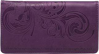 Checkbook Cover for Women & Men Christian Wallet, Faux Leather Christian Checkbook Cover for Duplicate Checks & Credit Cards