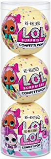 L.O.L. Surprise! Confetti Pop 3 Pack Waves – 3 Re-Released Dolls Each with 9 Surprises