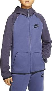 Boys Big Kids Full Zip Tech Fleece Essentials Hoodie Ar4020-557